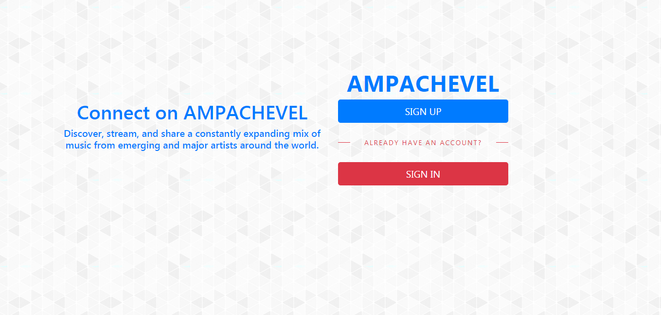 Ampachevel a music player built with apache server and laravel